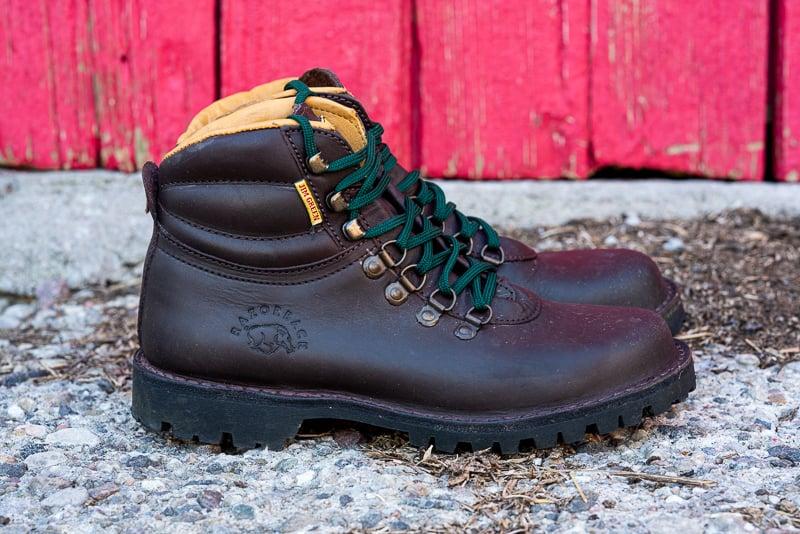 Jim Green Razorback hiking boot brown profil view