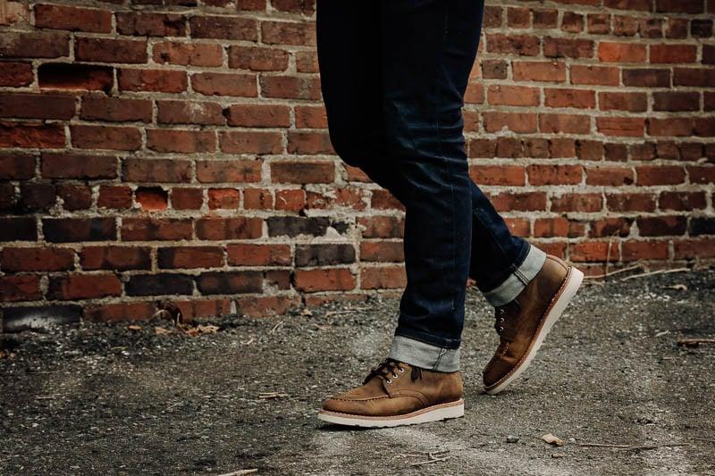 walking in Thursday Diplomat burnt copper leather