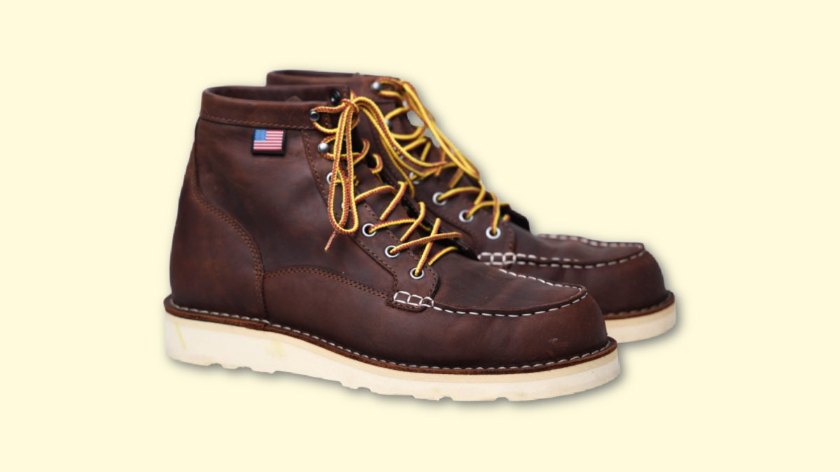 Danner Bull Run Review Bull Run in Brown Leather on Blank Background
