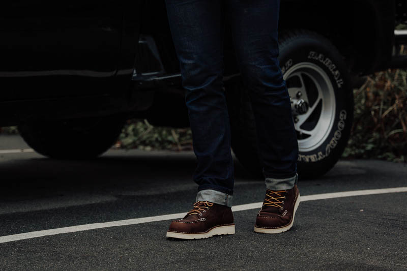 Danner Bull Run boots while walking